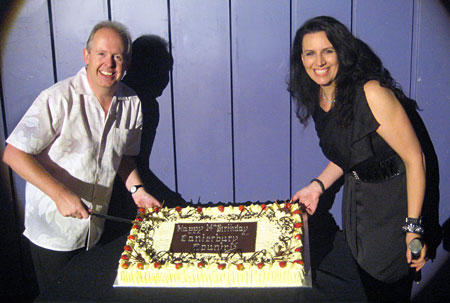 BOB and NICKI with the cake