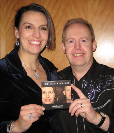 NICKI AND BOB WITH THEIR NEW CD, COLLABORATION