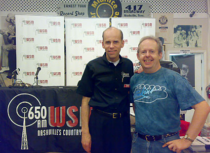 Eddie Stubbs and Bob Howe at Ernest Tubb's Record Shop