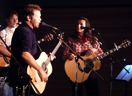 Troy Cassar-Daley and Harmony James