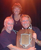 Colin Greatorix with Carole and Frank Ifield